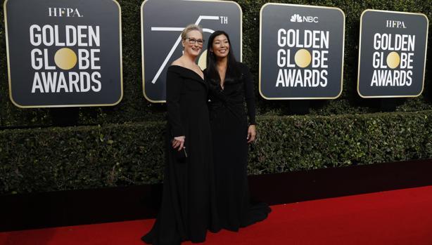 Meryl Streep y Ai-jen Poo, directora delNational Domestic Workers Alliance