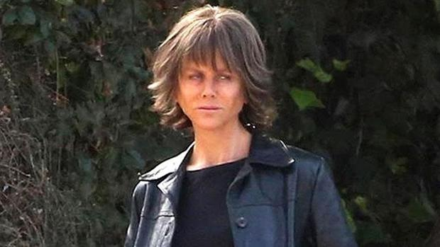 Nicole Kidman en el set de «Destroyer»