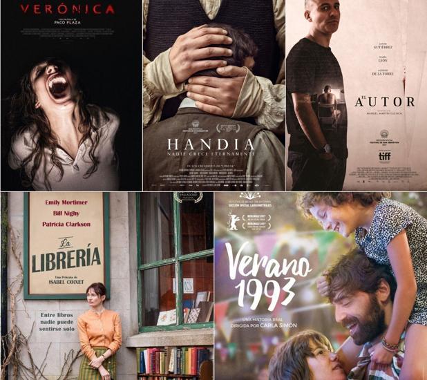 «Verano 1993», «La librería», «Handia», «El autor» y «Verónica» se disputarán el Goya a Mejor Película