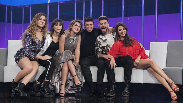 Los seis concursantes de «Operación Triunfo» entre los que saldrá el representante español para Eurovisión 2018