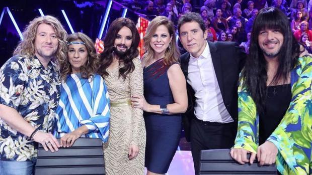 Los miembros del jurado de Tu cara me suena rindieron su particular homenaje a Eurovisión