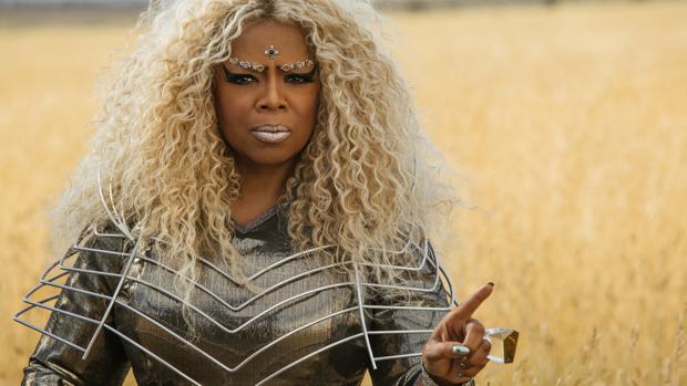 La estrella de televisión Oprah Winfrey en Un pliegue en el tiempo