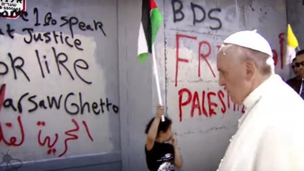 El Papa Francisco, durante su visita a Palestina