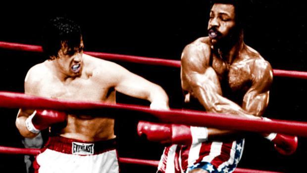 Rocky Balboa y Apollo Creed en Rocky
