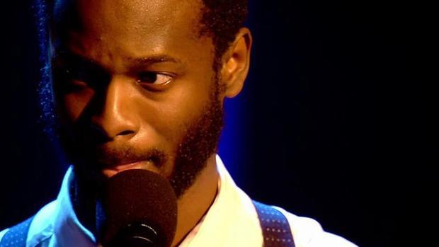 El poeta guineano César Brandon, ganador de Got Talent