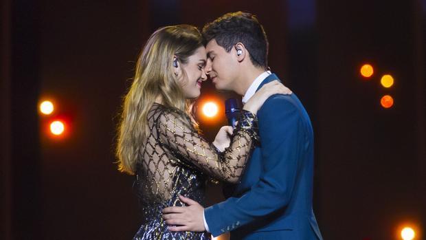 Alfred y Amaia, en el segundo ensayo de «Eurovisión»