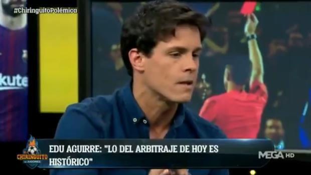 Edu Aguirre, colaborador de «El chiringuito», critica a Hernández Hernández