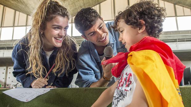 Fotografía facilitada por RTVE, de los candidatos españoles de Eurovisión 2018, Amaia y Alfred en Lisboa