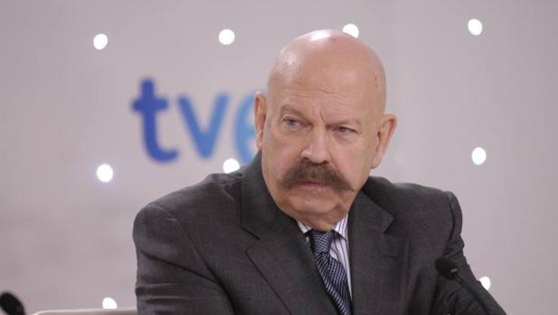 José María Íñigo, durante una rueda de prensa en 2012