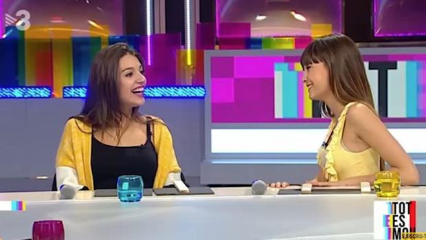 Aitana Ocaña y Ana Guerra, durante su intervención en TV3