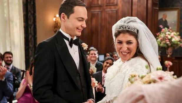 Sheldon y Amy, durante la esperada ceremonia