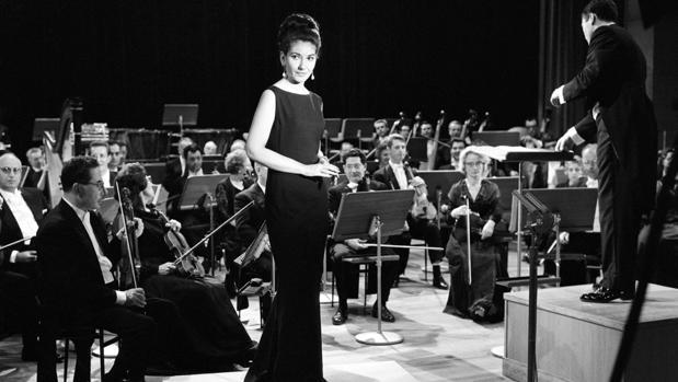 Maria Callas, en un concierto radiofónico en París en 1965, imagen que recoge el documental