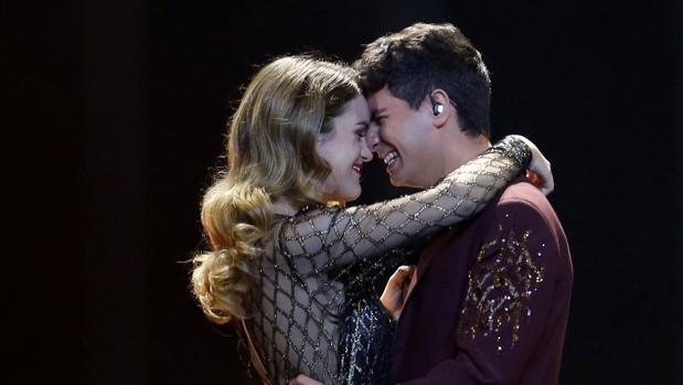 Amaia y Alfred, durante su actuación en Eurovisión