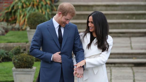 El Príncipe Harry Meghan Markle, el día del anuncio de su compromiso
