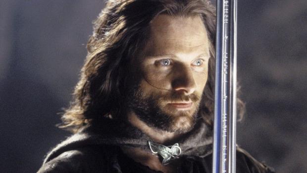 Aragorn, interpretado por Viggo Mortensen en la saga de Peter Jackson