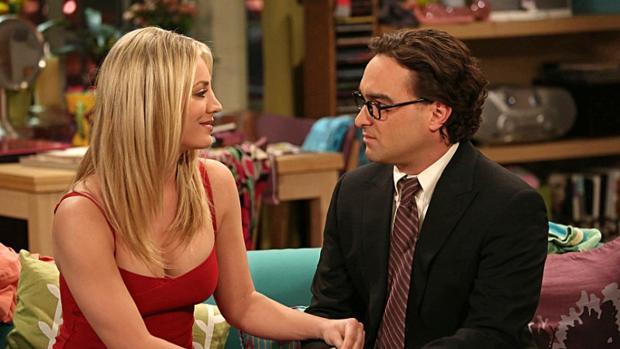 Penny y Leonard, dos de los protagonistas de «The Big Bang Theory»