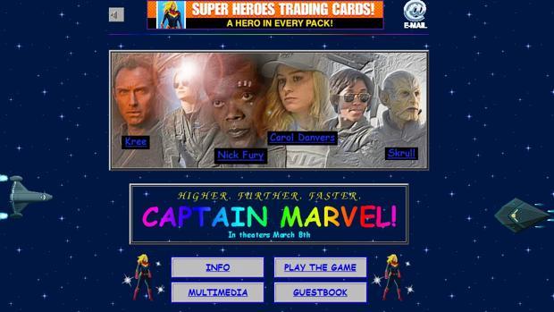 Web oficial de «Capitana Marvel»