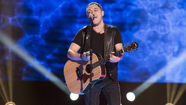 Andrés Balado durante una de sus actuaciones en «La Voz»
