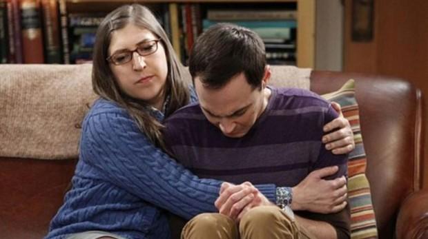 Amy y Sheldon en «The Big Bang Theory»
