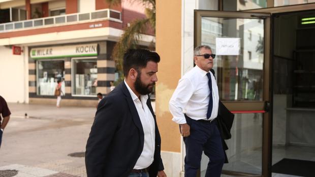 Fran González, a su llegada a los Juzgados de San José.
