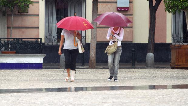 Adiós al calor, vuelve la lluvia a Cádiz