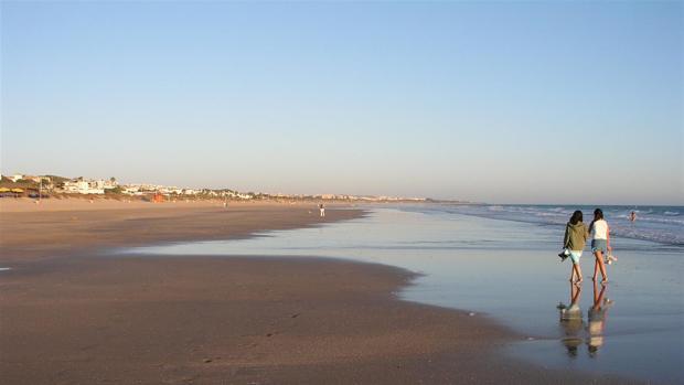 Playa de La Barrosa en Chiclana