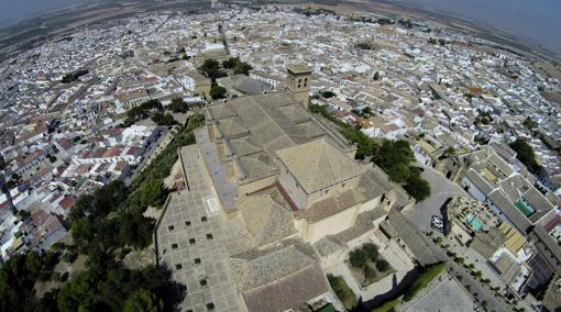 Vista aérea de la Colegiata de Nuestra Señora de la Asunción de Osuna