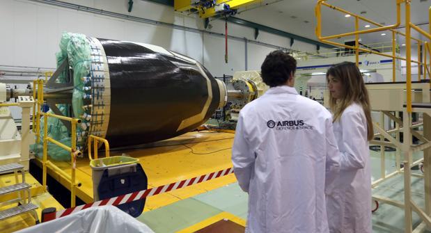 Componentes en la fábrica de Airbus