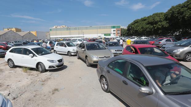 Aspecto del solar de Navalips ayer domingo que jugó el Cádiz.