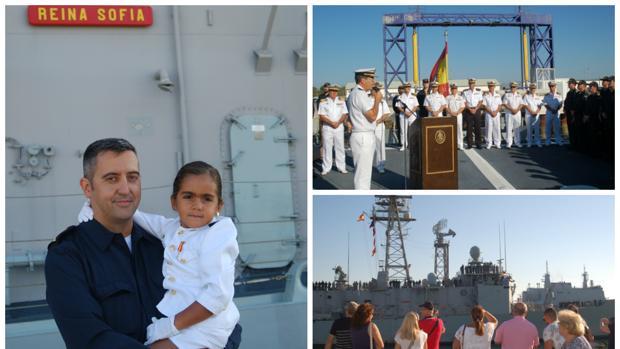 La fragata 'Reina Sofía' regresa a Rota tras más de cuatro meses en el Mediterráneo