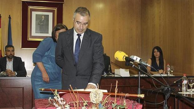 El alcalde de Estepa en la toma de posesión de su cargo