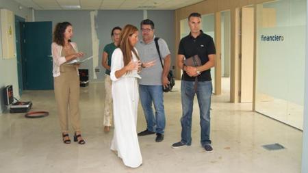La delegada Gema Pérez, en la nueva oficina de Formación
