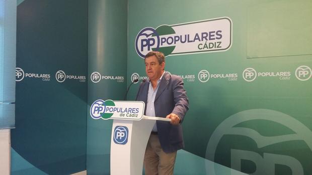 José Loaiza, portavoz del PP en la Diputación provincial de Cádiz.