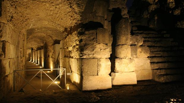 Una zona del conjunto arqueológico de Itálica
