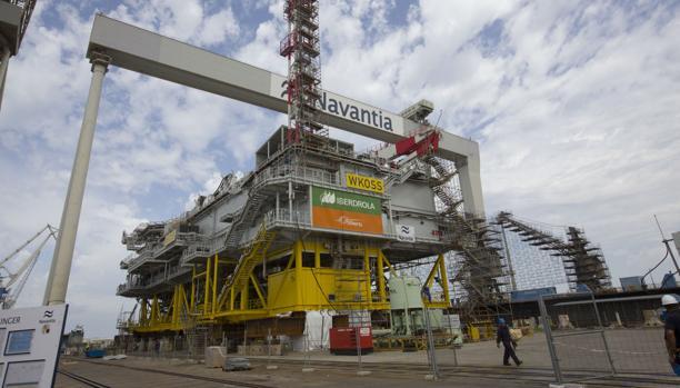 Vista de la plataforma Wikinger, construida en Puerto Real