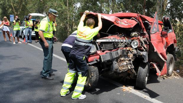 Accidente mortal de tráfico ocurrido en 2011 en la N-IV a su paso por Los Palacios