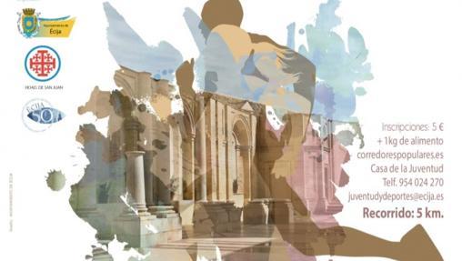 Cartel de la I Carrera Popular Ruta de los Monumentos