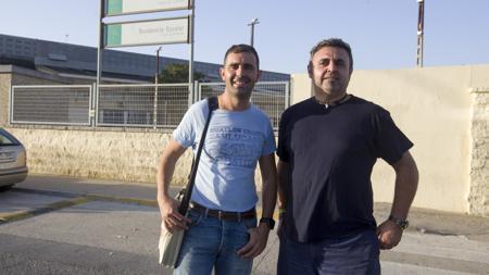 Antonio Jesús y Tomás, monitor y alumno del curso de PuertoReal