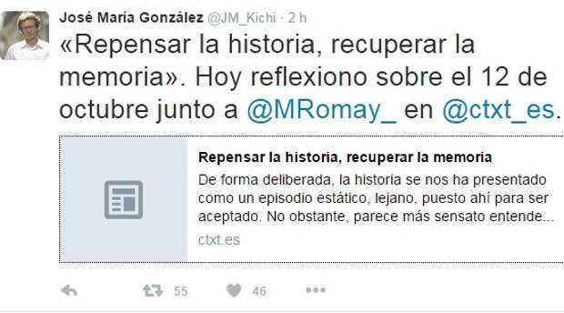 El alcalde de Cádiz denuncia «el relato incompleto» de la celebración histórica del 12 de Octubre
