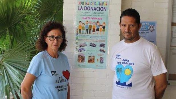 María Antonia Valle (donante de médula) y Juan Carlos Rodas (trasplantado de hígado) idearon la marcha