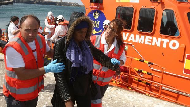 Operación de Salvamento Marítimo en el Estrecho de Gibraltar.