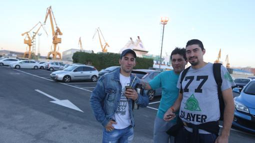 Tony, Gerardo y Daniel son de Mntevideo (Uruguay)