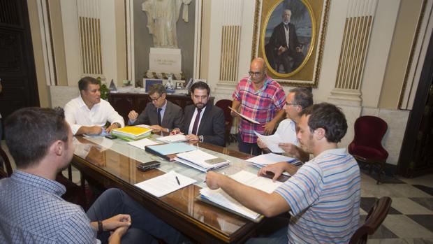 Reciente reunión de los portavoces municipales sobre los Edusi