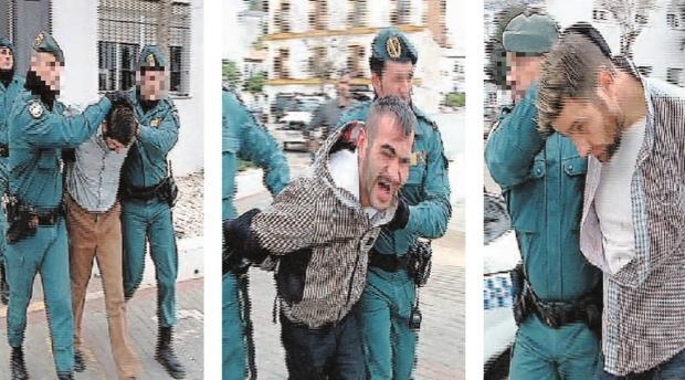 Los tres hermanos cuando pasaron a disposición judicial tras ser detenidos