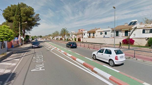 La avenida de Europa en Gines, donde se ha producido el accidente