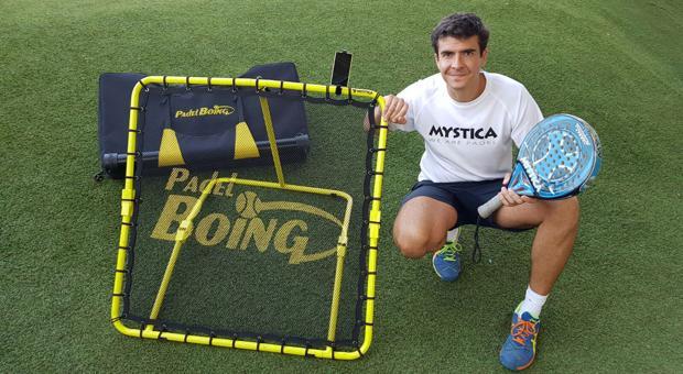 Antonio Jiménez, junto a su invento, que está teniendo gran éxito