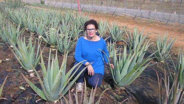Inmaculada González, gerente de Nattural Aloe Vera, comenzó a cultivar en 2012