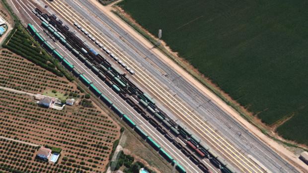 Vista de la estación de Majarabique, en Sevilla