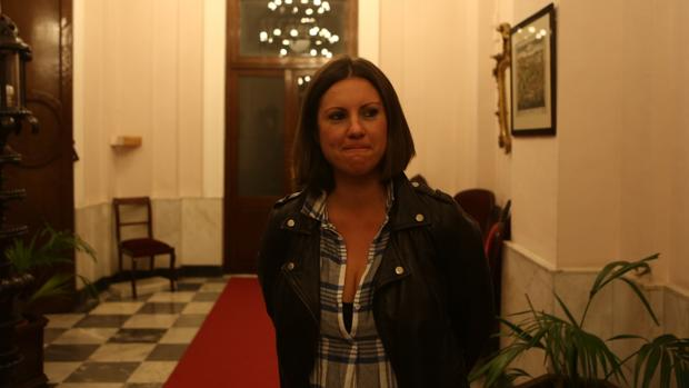 María Fernández-Trujillo hoy tras el consejo de administración
