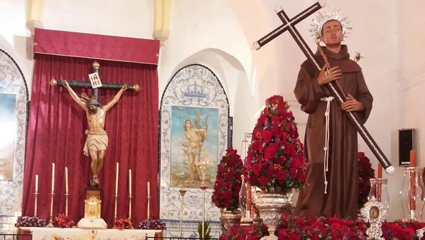 La venerada imagen de San Diego, patrón de San Nicolás del Puerto